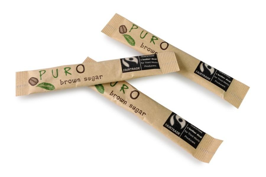 Puro Zuckersticks brauner Zucker 1000 x 3g Portionspackung, Fairtrade