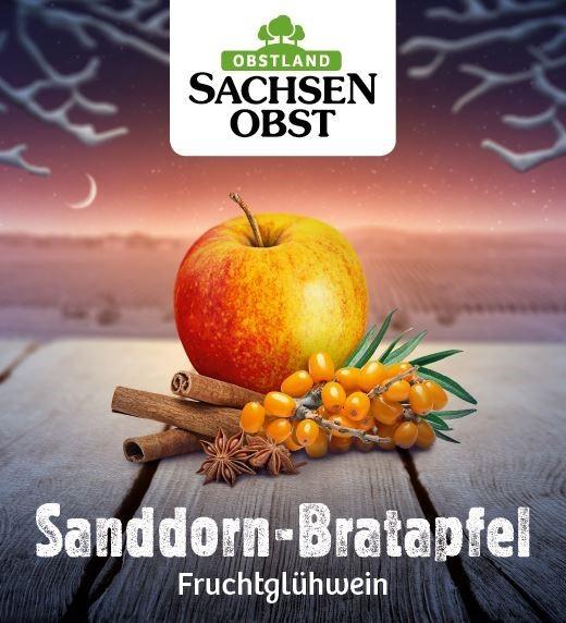 Sachsenobst Sanddorn-Bratapfel Fruchtglühwein 10 Liter Bag-in-Box