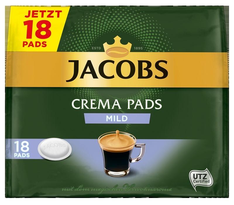 Jacobs Crema Mild Röstkaffee 18 Pads  UTZ zertifiziert