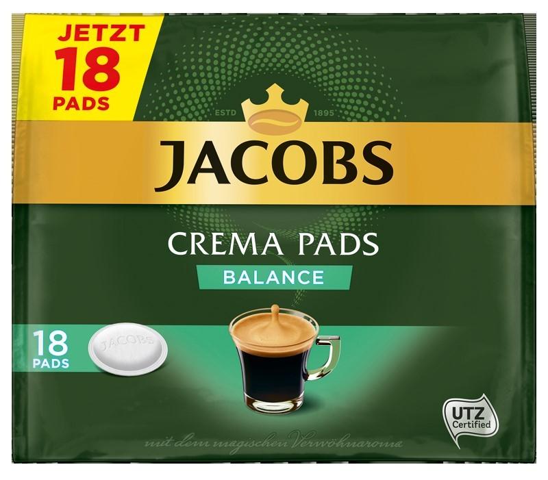 Jacobs Crema Balance Röstkaffee 18 Pads  UTZ zertifiziert