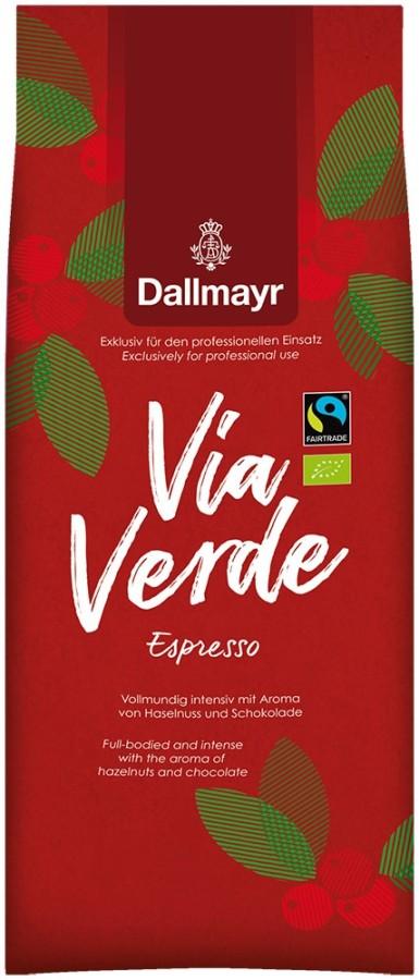 Dallmayr Via Verde Espresso 1kg Ganze Bohne, Bio Fairtrade