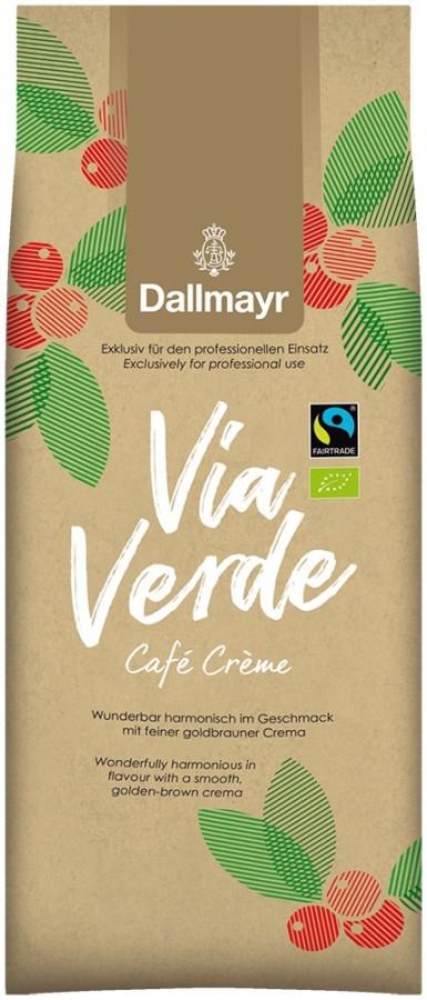 Dallmayr Via Verde Café Crème 1kg  Ganze Bohne, Bio Fairtrade