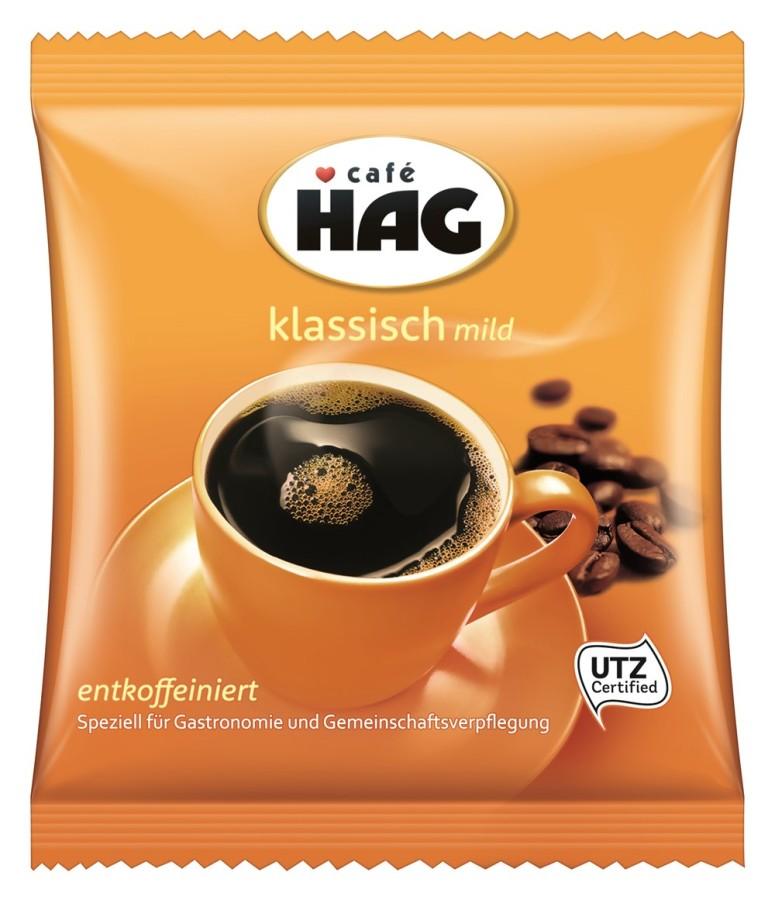 Café Hag entkoffeiniert klassisch mild  80 x 60g Gemahlen, Filterbeutel