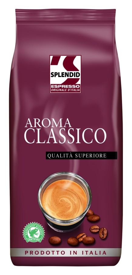 Splendid Aroma Classico Espresso Ganze Bohne 8 x 1kg, Rainforest Alliance