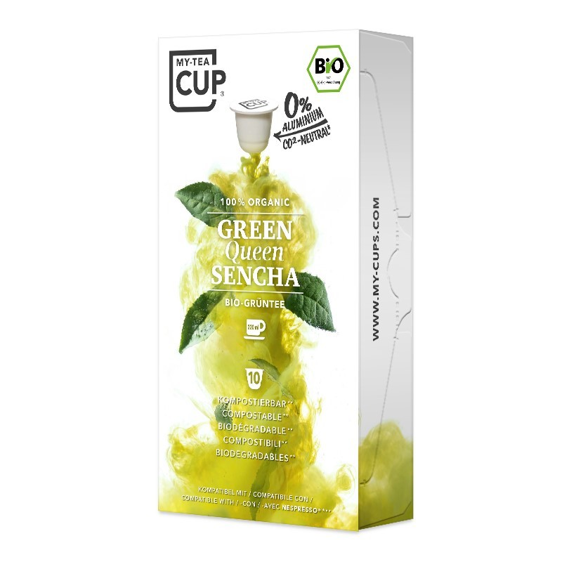 My-Cups Master-Box Green Queen Sencha Grüner Tee 10 x 10 Kapseln, Bio, 0% Alu