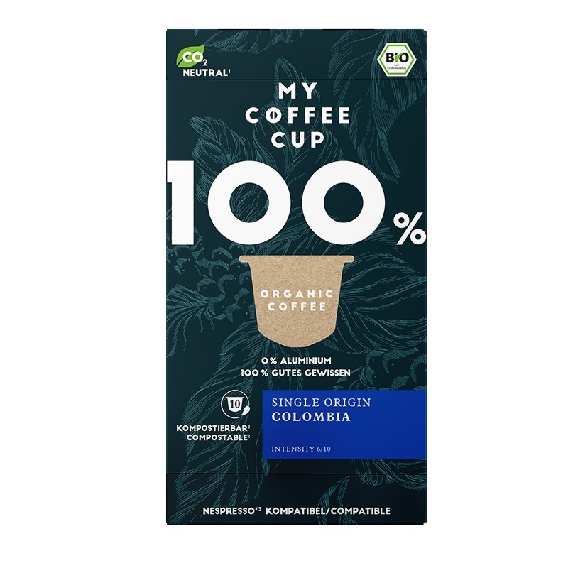 My-Cups Box Colombian Rainforest Caffè 10 Kapseln, Bio, Rainforest, 0% Alu