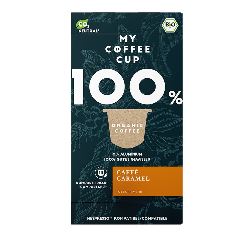 My-Cups Box Caffè Caramel  10 Kapseln, Bio, 0% Alu