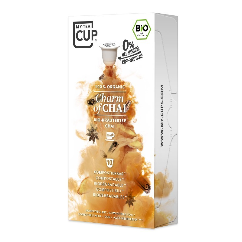 My-Cups Box Charm of Chai Kräutertee 10 Kapseln, Bio, 0% Alu