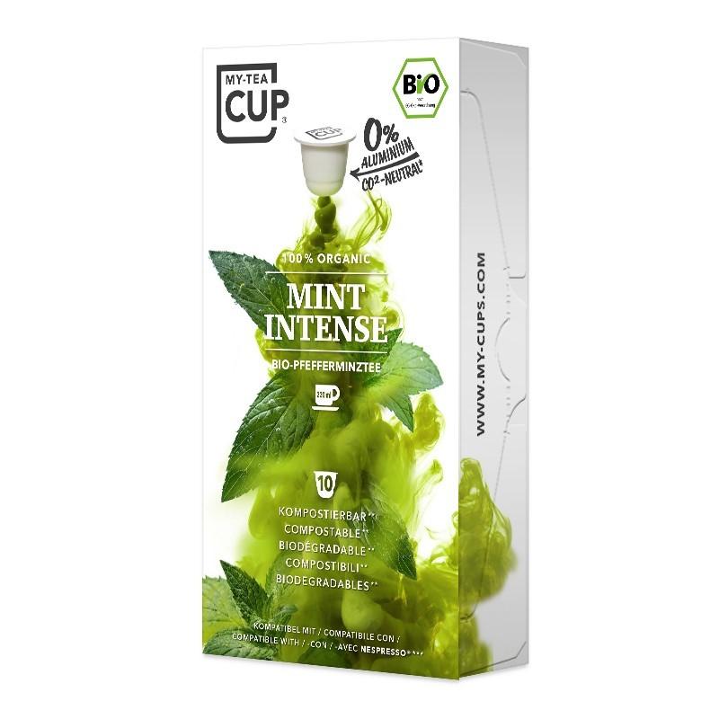 My-Cups Box Mint Intense Kräutertee 10 Kapseln, Bio, 0% Alu