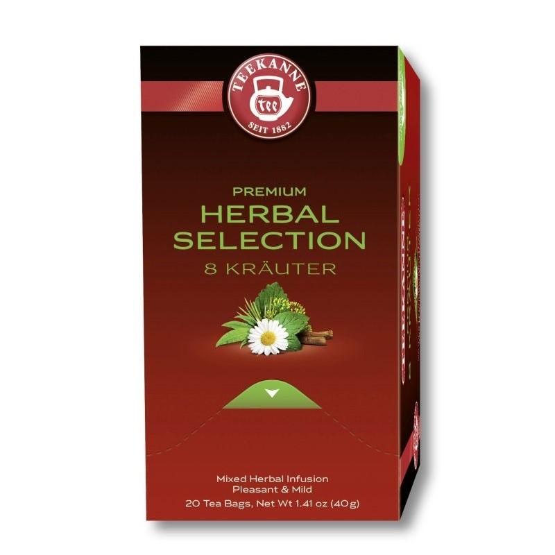 Teekanne Premium 8 Kräuter Tee 20 x 2g Teebeutel
