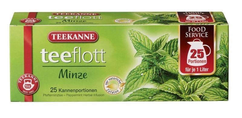Teekanne teeflott Minze Kräutertee 25 x 3,5g Kannenportionen