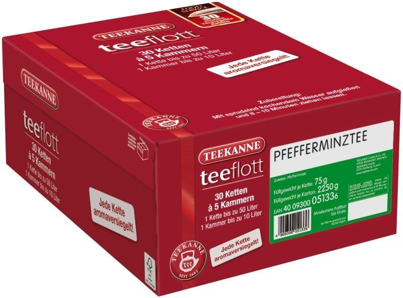 Teekanne teeflott Pfefferminztee 30 Filterketten à 5 Kammern
