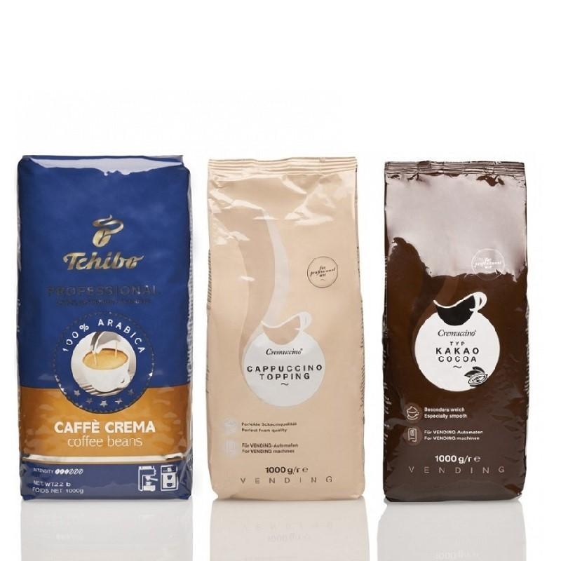 Starterpaket Tchibo Professional  Caffé Crema, Cappuccino Topping und Kakao