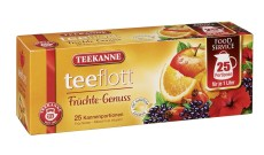 Teekanne teeflott Früchtemischung 25 x 7g Kannenportionen