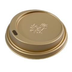 Dallmayr  Coffee to go Kunststoffdeckel goldfarben 100 Stück für 300ml Becher