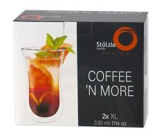Stölzle Lausitz Kaffeeglas / Teeglas XL  0,33 l  Coffee N More 2er-Set