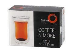 Stölzle Lausitz Kaffeeglas / Teeglas S 0,09 l  Coffee N More 2er-Set