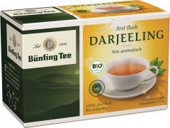 Bünting Tee Darjeeling Schwarzer Tee 20 x 1,75g Teebeutel, Bio