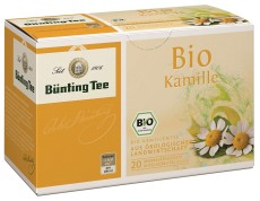 Bünting Tee Kamille Kräutertee 20 x 1,5g Teebeutel, Bio