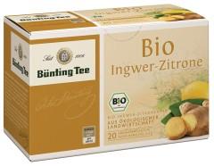 Bünting Tee Ingwer-Zitrone-Tee 20 x 2g Teebeutel, Bio