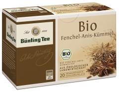 Bünting Tee Fenchel-Anis-Kümmel 20 x 3g Teebeutel, Bio