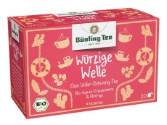 Bünting Tee Würzige Welle Kräutertee 20 x 2,5g Teebeutel, Bio