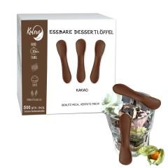 Kulero essbare Dessertlöffel Kakao 500 Löffel, 9cm  nachhaltig und neutral