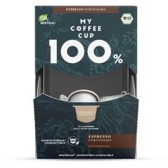 My-Cups Megabox Espresso Fortissimo 100 Kapseln, Bio, 0% Alu