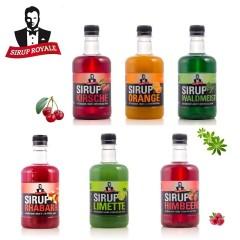 Sirup Royale Probierpaket 6 Geschmacksrichtungen je 0,5 Liter, PET für Erfrischungsgetränke