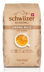Schwiizer Schüümli Crema mild 1kg Ganze Bohne, UTZ certified