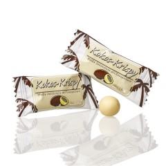 Hellma Kokos-Krispy weiße Schokolade mit Knusperkern 380 Stück
