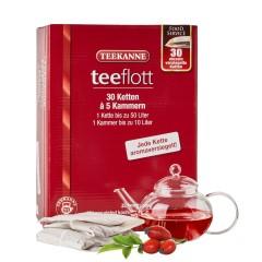 Teekanne Teeflott Hagebutte-Hibiskus Früchtetee 30 Filterketten à 5 Kammern