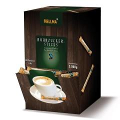 Hellma Rohrzucker-Sticks  500 x 4g Portionspackung, Fairtrade