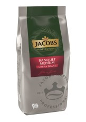 Jacobs Banquet Medium Cafe Crema  8 x 1kg  Ganze Bohne, UTZ zertifiziert