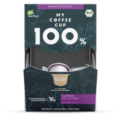 My-Cups Mega-Box Lungo Bellissimo 100 Kapseln, Bio, 0% Alu