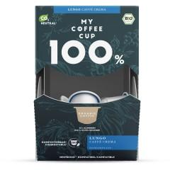 My-Cups Mega-Box Lungo Caffè Crema 100 Kapseln, Bio, 0% Alu