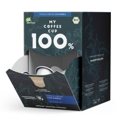 My-Cups Mega-Box Colombian Rainforest Caffè 100 Kapseln, Bio, Rainforest, 0% Alu