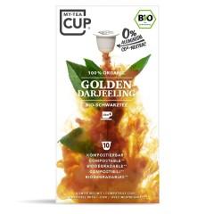 My-Cups Master-Box Golden Darjeeling Schwarzer Tee 10 x 10 Kapseln, Bio, 0% Alu