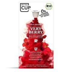 My-Cups Master-Box Very Berry Früchtetee 10 x 10 Kapseln, Bio, 0% Alu