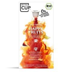 My-Cups Master-Box Happy Fruits Früchtetee 10 x 10 Kapseln, Bio, 0% Alu