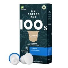 My-Cups Box Lungo Caffè Crema 10 Kapseln, Bio 0% Alu