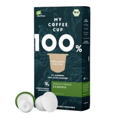 My-Cups Box Single Origin Ethiopia 10 Kapseln, Bio, 0% Alu