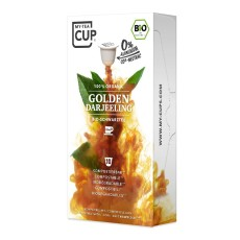 My-Cups Box Golden Darjeeling Schwarzer Tee 10 Kapseln, Bio, 0% Alu