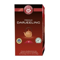 Teekanne Premium Darjeeling Schwarzer Tee  20 x 1,75g Teebeutel, Rainforest Alliance