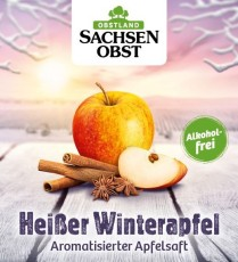 Sachsenobst Heißer Winterapfel aromatisierter Apfelsaft 10 Liter Bag-in-Box, alkoholfrei